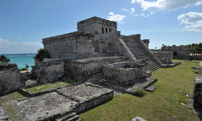 The Castle, the main temple at the Pre-Columbian Mayan site of Tulum, near the Sac Actun cave system in Mexico. (Cris Bouroncle/AFP/Getty Images)