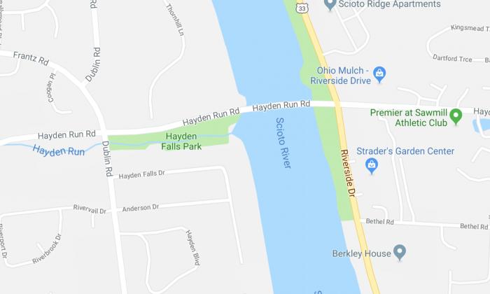 Hayden Falls Park in Ohio. (Screenshot Via Google Maps)