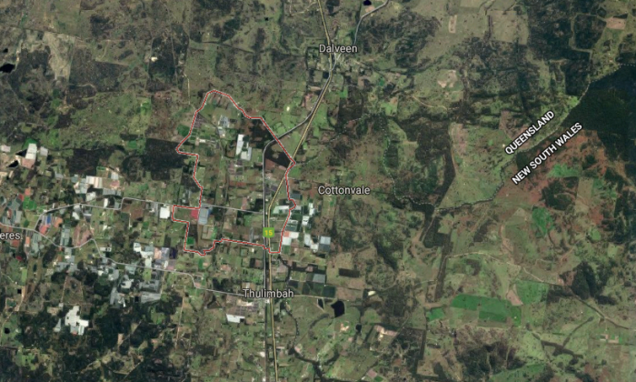 A 5-year-old boy was accidentally shot in the face at a rural property in Cottonvale in Queensland,  Australia.  (Screenshot via Google Maps)