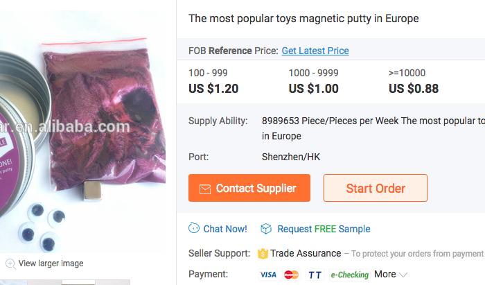 Magnetic Putty. (Screenshot via Alibaba)