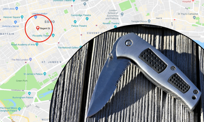 An 88-year-old former special forces soldier reportedly rescued a woman from five knife-wielding attackers in London. (Google Maps / Stock photo / CCO)