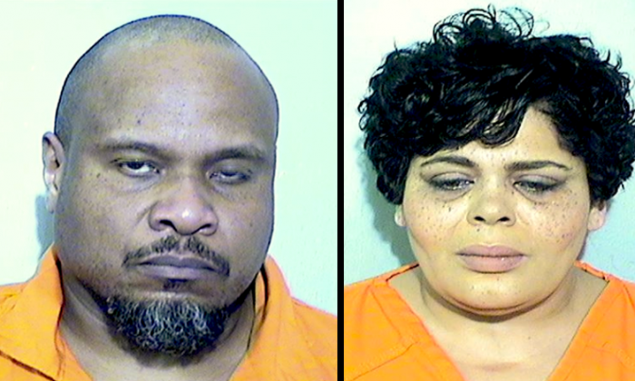Anthony Morris (L) and Zelda Marie Morris (R) are accused of robbing a Sunday school teacher. (Booking photos via Toledo Police Department)