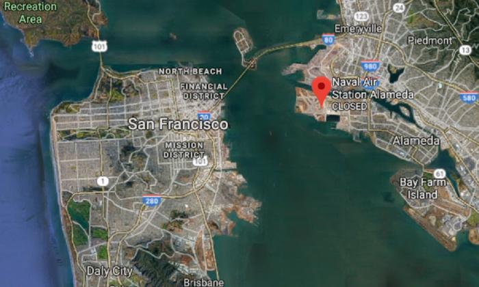 Closed Naval Air Station Alameda base in Alameda, Calif. (Screenshot via Google Maps)