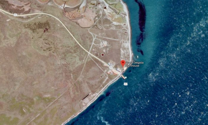 Punta Delgada, Chile, on the banks of the Strait of Magellan. (Screenshot via Google Maps)