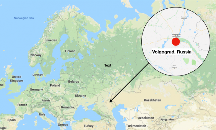The incident took place in Volgogrod, Russia. (Google Maps)