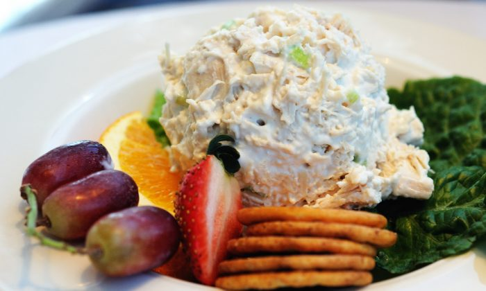 "A file photo of chicken salad. (""Velma's Chicken Salad"" by Ralph Daily/Flickr [CC BY 2.0 (ept.ms/2haHp2Y)])"
