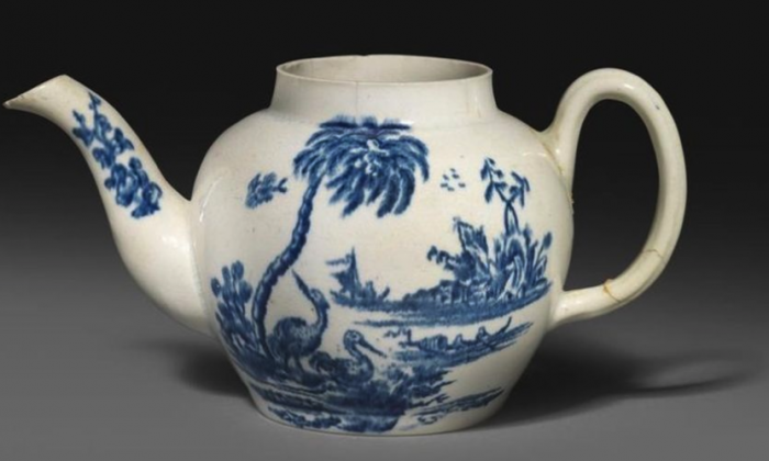 The teapot, initially bought for $20, is the only known piece of its kind in existence. (Woolley and Wallis)