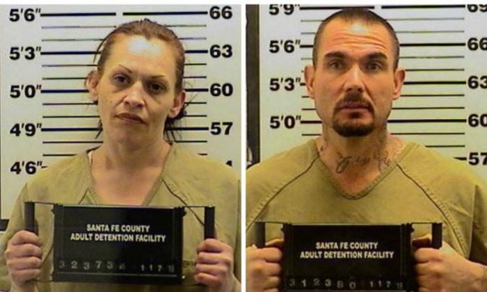 Tracy Ann Peña, 35, and boyfriend ThomasWayne Ferguson, 42. (Santa Fe Sheriff's Office)