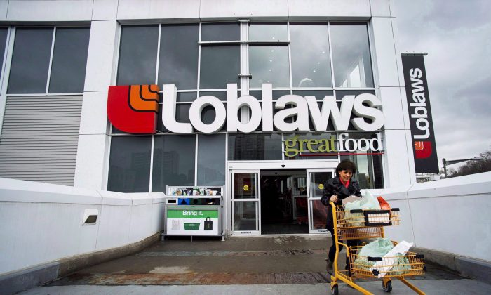 Loblaw Companies Limited has partnered with Metrolinx to offer a new service allowing commuters to pre-order groceries online for pick-up during their next day's commute at five GO Transit stations in the Greater Toronto Area. (THE CANADIAN PRESS/Nathan Denette)