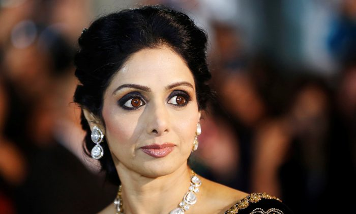 "Actress Sridevi Kapoor arrives for the gala presentation of ""English Vinglish"" at the 37th Toronto International Film Festival, Sept. 14, 2012. (Reuters/Mark Blinch/File Photo)"