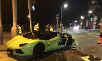 Lamborghini Worth £260,000 Smashes Into Bus