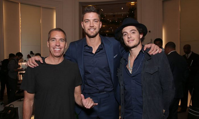 Dan Fegan, Chandler Parsons, and Matthew Chevallard attend a Del Toro Chandler Parsons Event at Saks Fifth Avenue Beverly Hills on Oct. 30, 2015, in Beverly Hills, Calif. (Todd Williamson/Getty Images for Saks Fifth Ave / Del Toro)