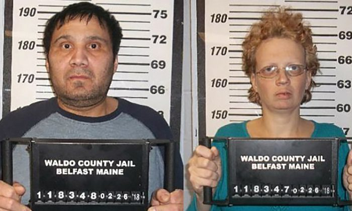 Julio and Sharon Carillo have been charged with the brutal murder of 10-year-old Marissa King. (Waldo County Jail)