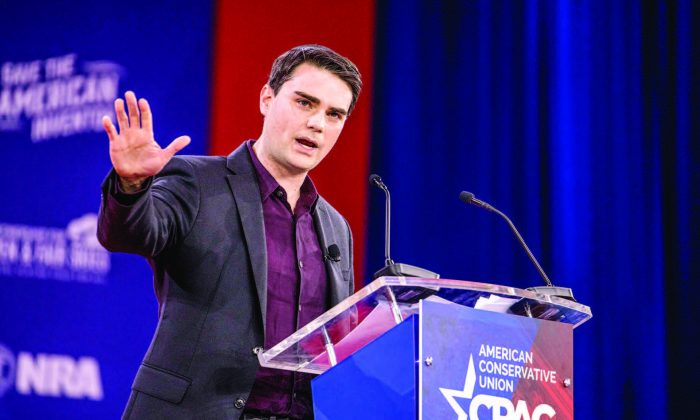 Ben Shapiro, an American conservative political commentator and editor-in-chief for The Daily Wire, during the CPAC 2018 in National Harbor, Md., on Feb. 22, 2018. (Samira Bouaou/The Epoch Times)