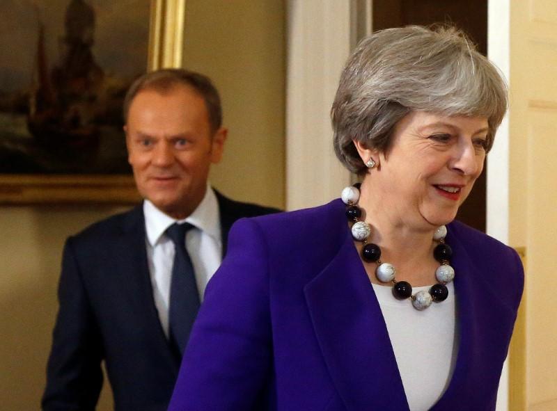 Theresa May meets Donald Tusk
