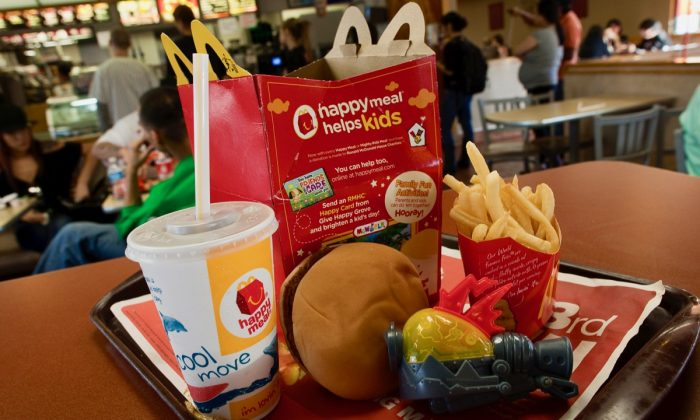 A photo illustration of a Happy Meal at McDonald's on Nov. 3, 2010, in San Francisco. (David Paul Morris/Getty Images)