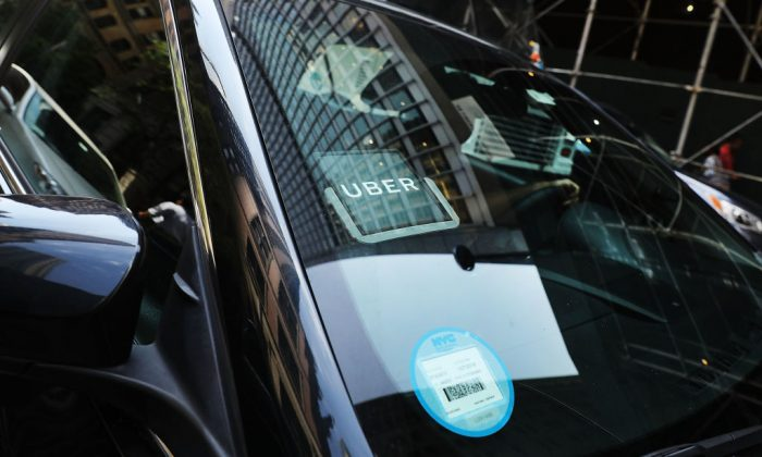 An Uber car in a 2017 file photo. (Spencer Platt/Getty Images)