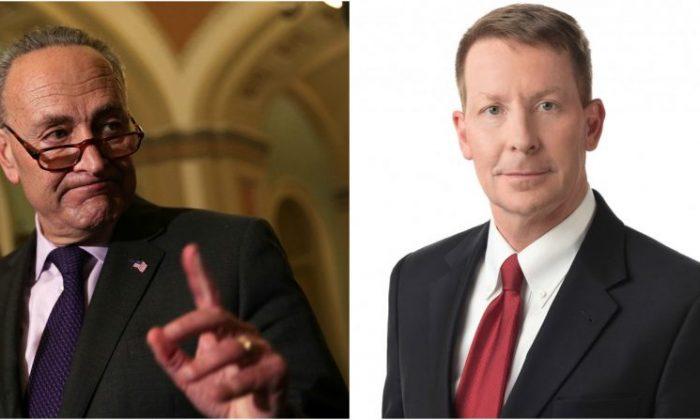 U.S. Senate Minority Leader Sen. Chuck Schumer (D-N.Y.) (L).  (Alex Wong/Getty Images) A. Marvin Quattlebaum Jr. (Nelson Mullins)