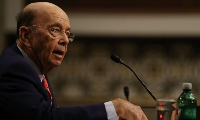 Wilbur Ross, picked by President-elect Donald Trump to serve as his commerce secretary, testifies at his confirmation hearing in front of the Senate Commerce Committee on Capitol Hill in Washington, DC on Jan. 18, 2017. (Joe Raedle/Getty Images)