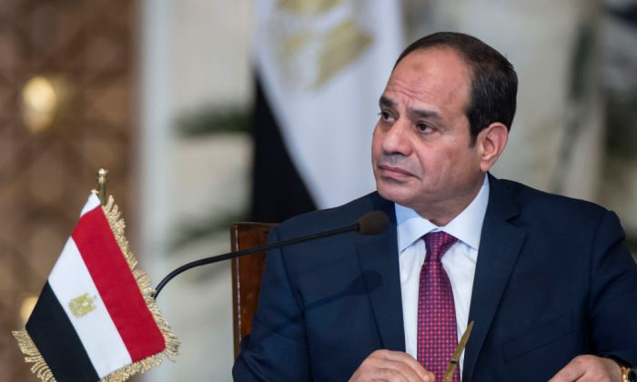 Egyptian President Abdel Fattah al-Sisi attends a press conference  in the capital Cairo on December 11, 2017. (Khaled Desouki/AFP/Getty Images)