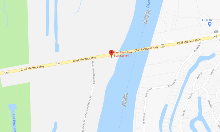 Two bodies have been found in the area of the East Pearl River Boat Launch on Highway 90,  according to the St. Tammany Parish Sheriff's Office. (Screenshot via Google Maps)