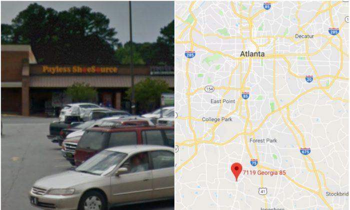 Payless ShoeSource store on GA-85 in Riverdale, Ga. (Screenshots via Google Maps/Google Street View)