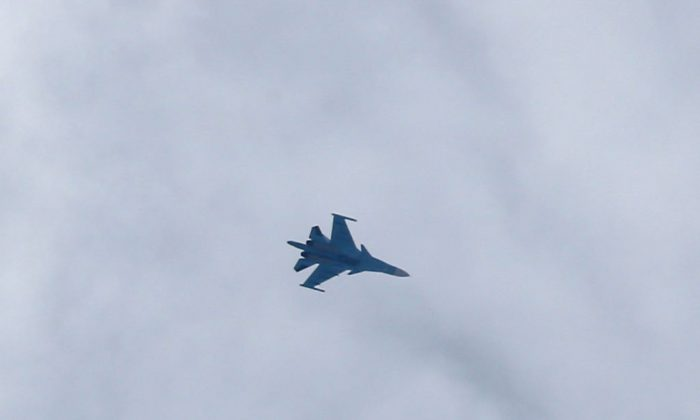A Russian plane in a file photo. (ABDULMONAM EASSA/AFP/Getty Images)