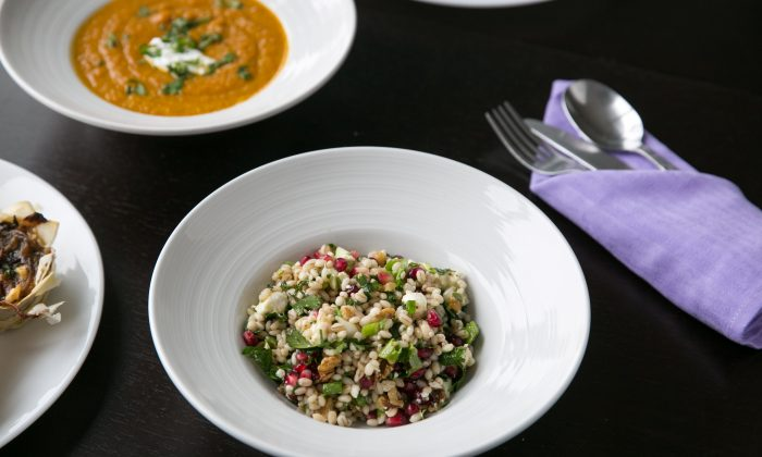 Barley Pomegranate Salad. (Benjamin Chasteen/The Epoch Times)