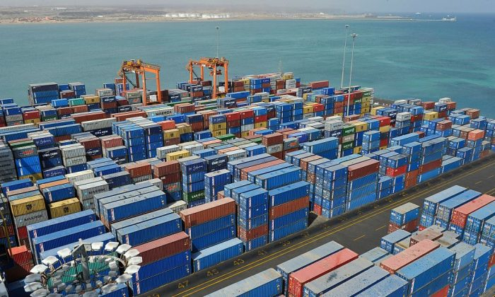 A general view of the port of Djibouti, on March 27, 2016. (Simon Maina/AFP/Getty Images)