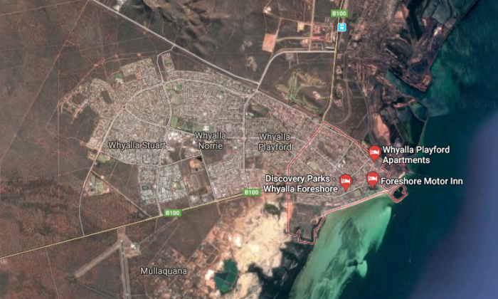 Whyalla in South Australia. (Screenshot via Google Maps)