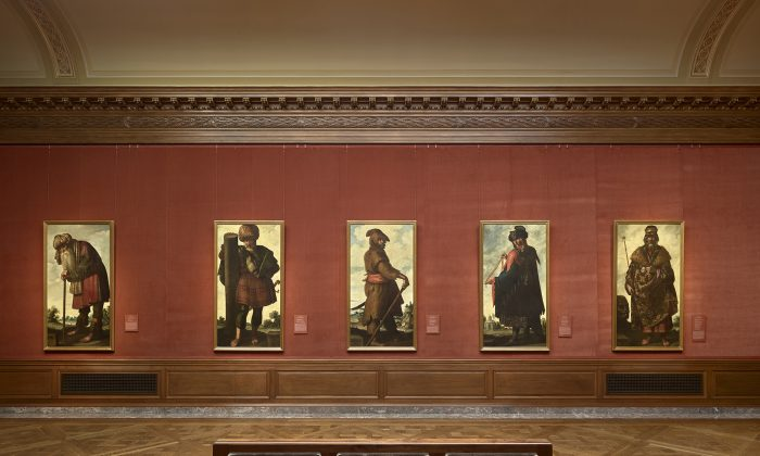 """Five of the 13 paintings in the exhibition, """"Zurbarán's Jacob and His Twelve Sons: Paintings from Auckland Castle"""" at The Frick Collection,"""" on view until April 12, 2018. (The Frick Collection)"""