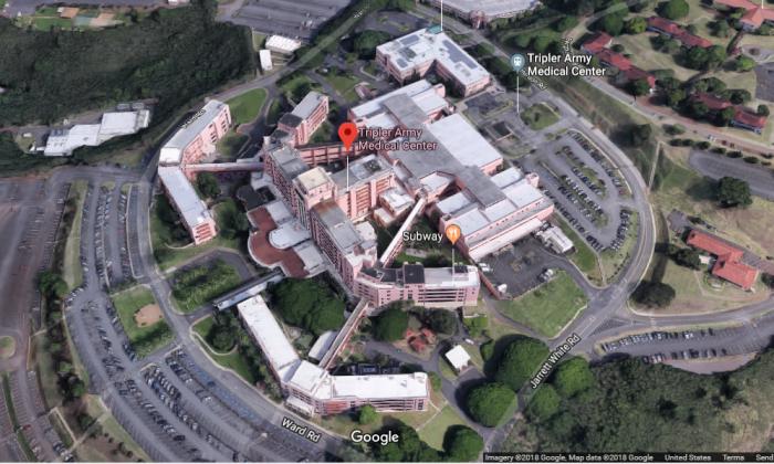 Tripler Army Medical Center in Honolulu, Hawaii. (Screenshot via Google Maps)