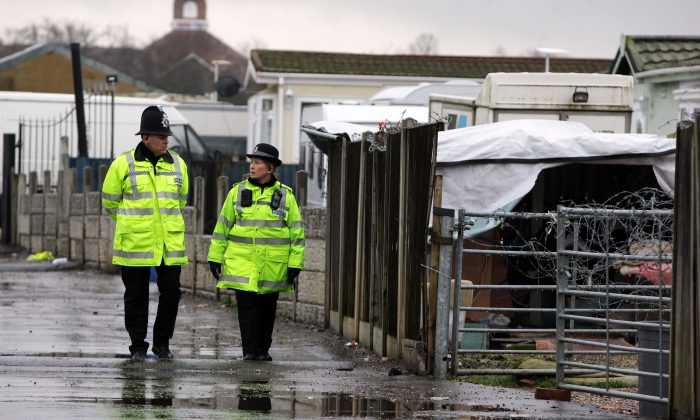 Police officers in Essex, UK. (Oli Scarff/Getty Images)
