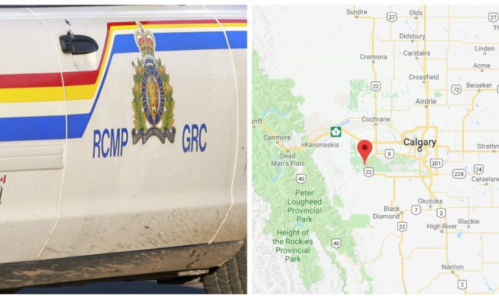The RCMP have a 19-year-old man in custody after an elderly woman in Brag Creek, Alberta, was attacked with a sword on March 9, 2018. (AP Photo/The Canadian Press, Viktor Pivovarov/Google Maps)