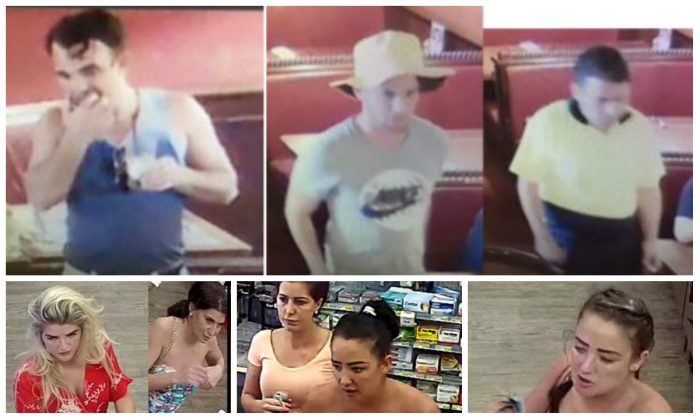 Police has released photos of people suspected of scamming and stealing offences in Queensland. (Queensland Police)