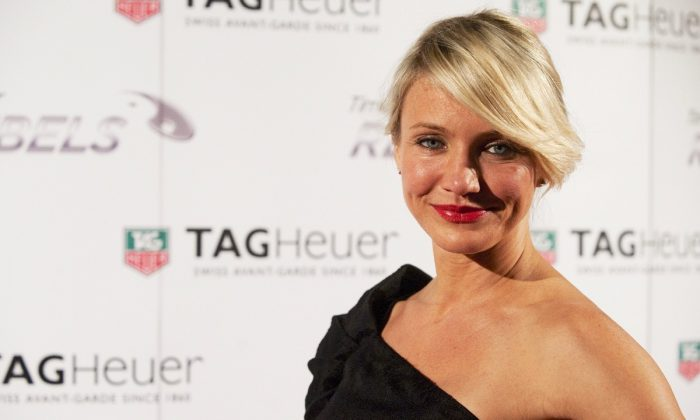Cameron Diaz at the Baselworld fair in Basel, Switzerland on March 7, 2012.  (Sebastien Bozon/AFP/Getty Images)