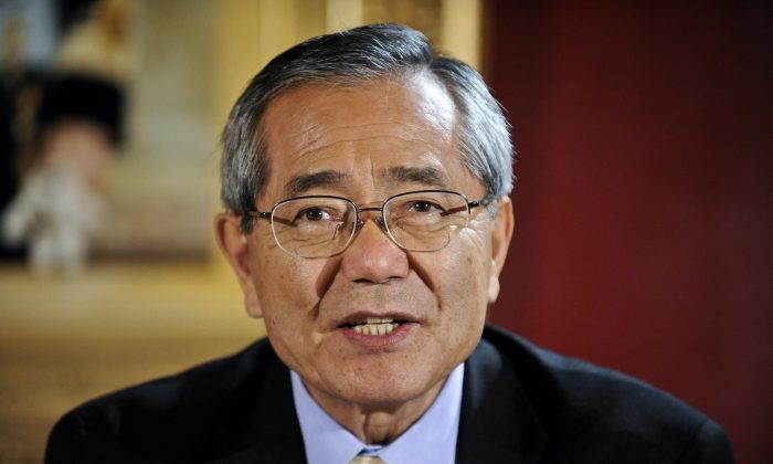 Ei-ichi Negishi before receiving his shared Nobel Prize for Chemistry in December 9, 2010. (Anders Wiklund/AFP/Getty Images)