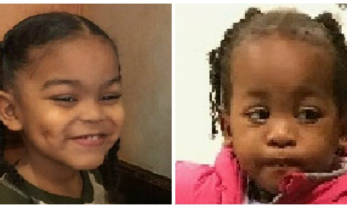 An amber alert has been issued for Lynn Roby, 3, and Jordyn Washington, 2. Both girls have been missing since 2 p.m., March 14. (National Center For Missing And Exploited Children)