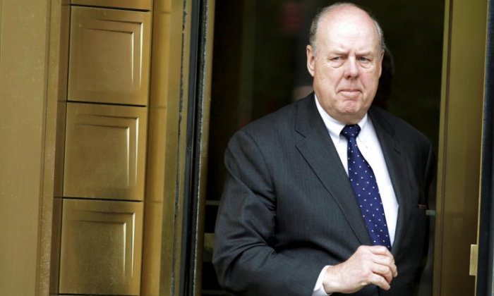 Lawyer John Dowd exits Manhattan Federal Court in New York on May 11, 2011. (Reuters/Brendan McDermid/File Photo)