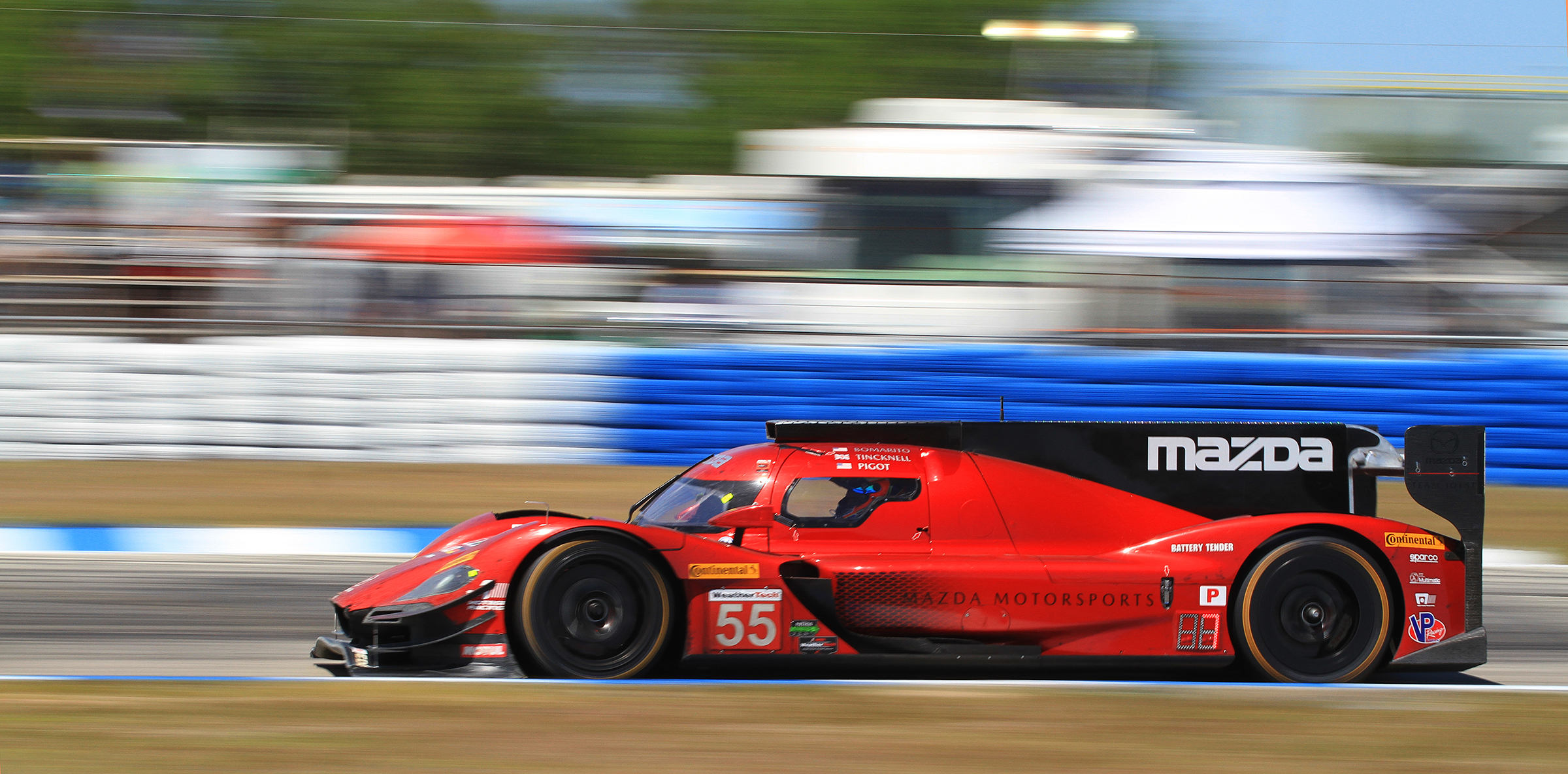 Mazda was second at the final pit stop, but was once again struck down by mechanical woes with victory seemingly within reach. (Chris Jasurek/Epoch Times)