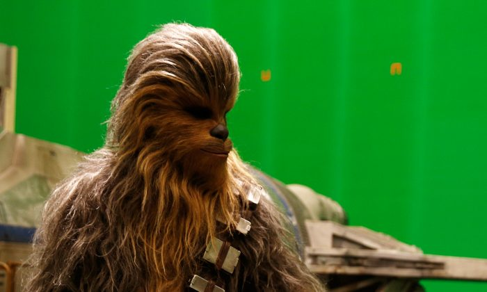 "Chewbacca the Wookie, a ""Star Wars"" star. (Adrian Dennis-WPA/Getty IMages)"