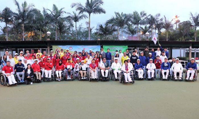 More than 40 disabled bowlers from Hong Kong, Korea and Singapore participated in the Hong Kong Lawn Bowls Open Championship for the Disabled 2018 on Mar 18-19. (HKPC&SAPD)