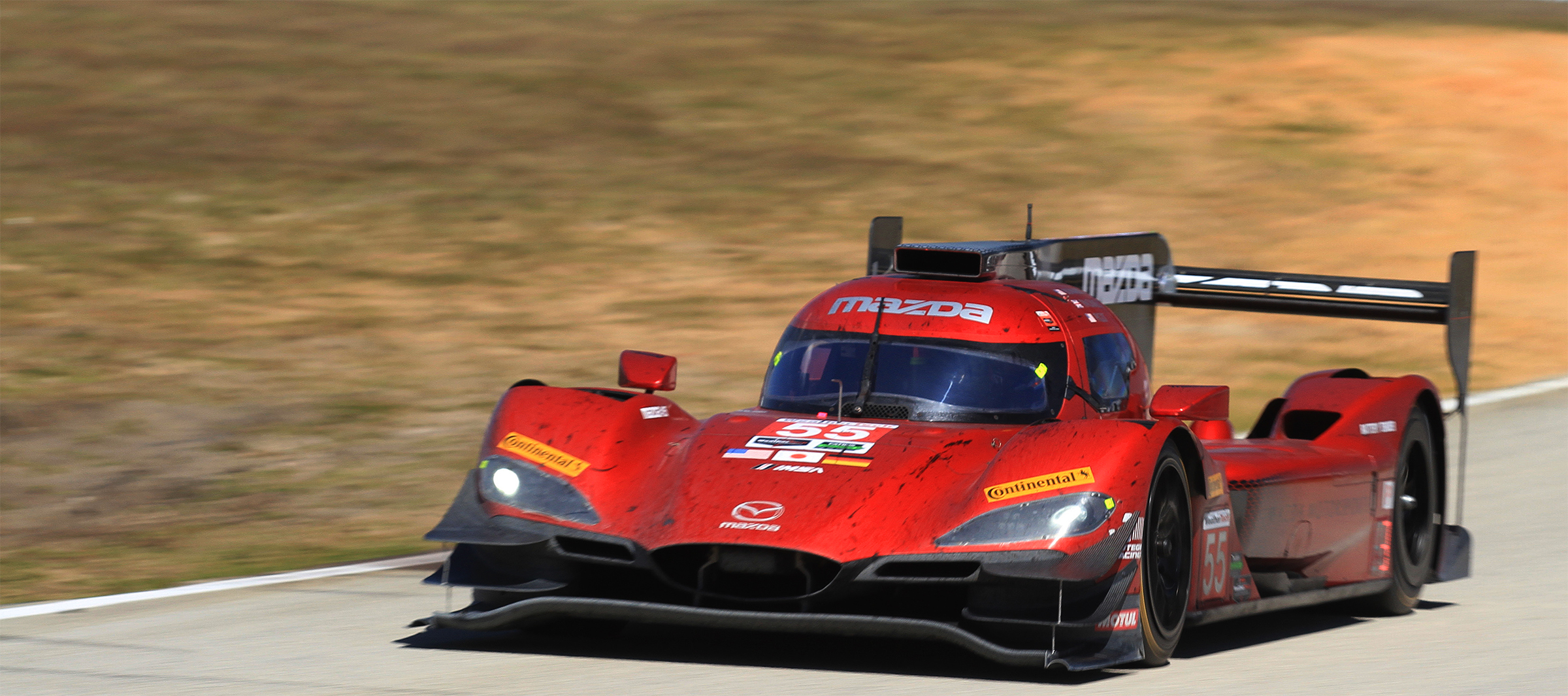 The #55 Mazda driven by Jonathan Bomarito, Spencer Pigot, and Harry Tincknell finished sixth but very nearly finished on the podium with a good chance at the top step. (Chris Jasurek/Epoch Times)