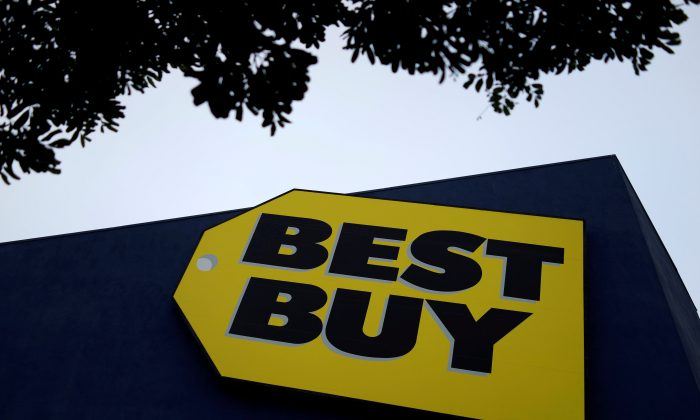 A Best Buy store is seen in Los Angeles on March 13, 2017. (Reuters/Lucy Nicholson/File Photo)