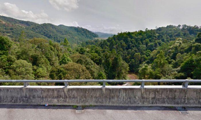 The Bridge Rope Swing in Kuala Kubu Bharu, Selangor, Malaysia. (Screenshot via Google Maps)