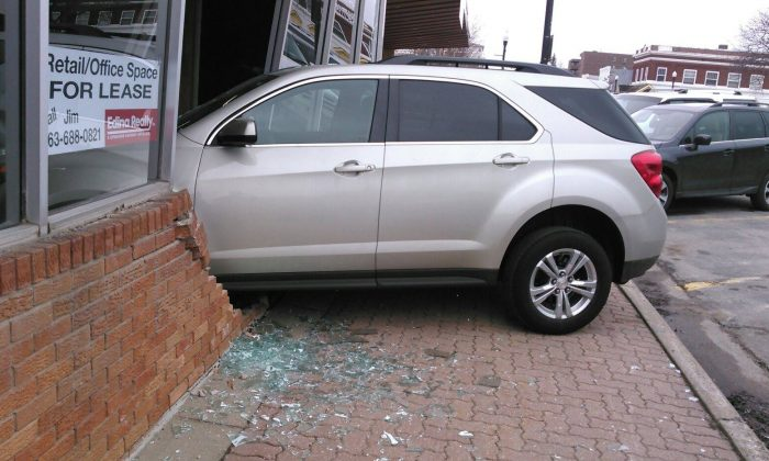 A teen reportedly crashed into the exam building while she was taking her driver's test, according to police. (Buffalo Police Department)