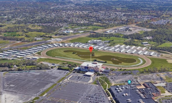 Parx Racing track in Bensalem, Pa., where a horse jockey sustained severe injuries that led to his death. (Screenshot via Google Maps)