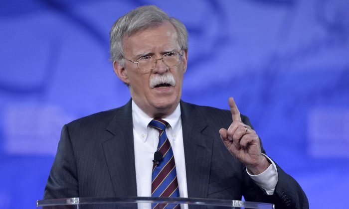 Former US Ambassador to the UN John Bolton speaks to the Conservative Political Action Conference (CPAC) at National Harbor, Maryland, Feb. 24, 2017.  (Mike Theiler /AFP/Getty Images)