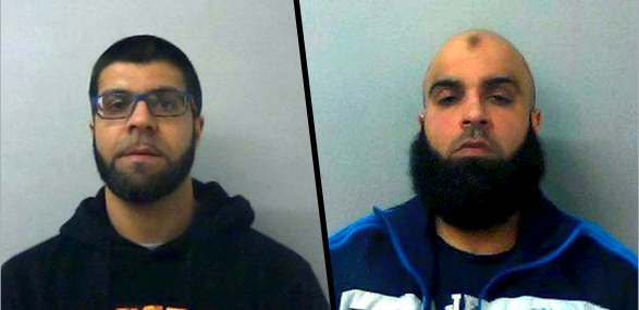Khalid Hussain (L) and Assad Hussain were among the seven men convicted for their involvement in a sex gang  who abused young girls on a massive scale. (SWNS)
