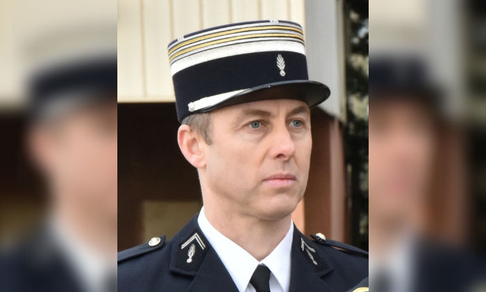 Lieutenant-Colonel Arnaud Beltrame, the gendarme who voluntarily took the place of a hostage during a deadly supermarket siege in southwestern France on Friday, March 23, 2018. (Gendarmerie Nationale/Handout via Reuters)